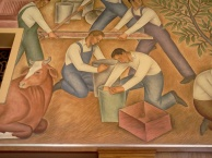 WPA mural in post office